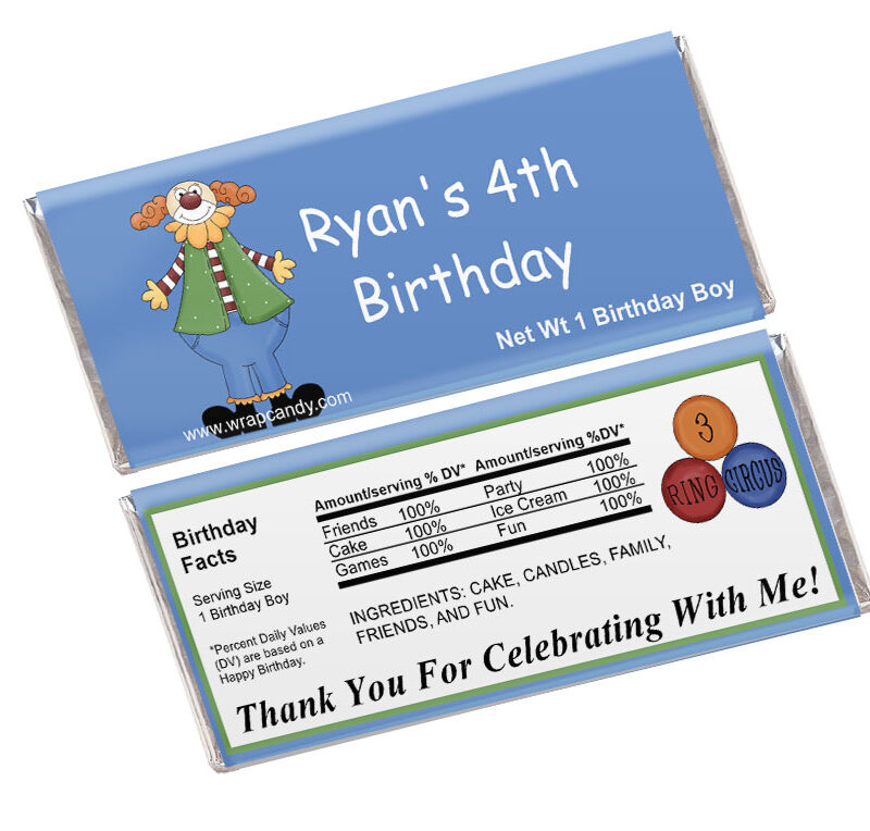 Personalized Birthday Candy Wrapper Template