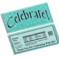 Celebrate Candy Bar Wrapper Template
