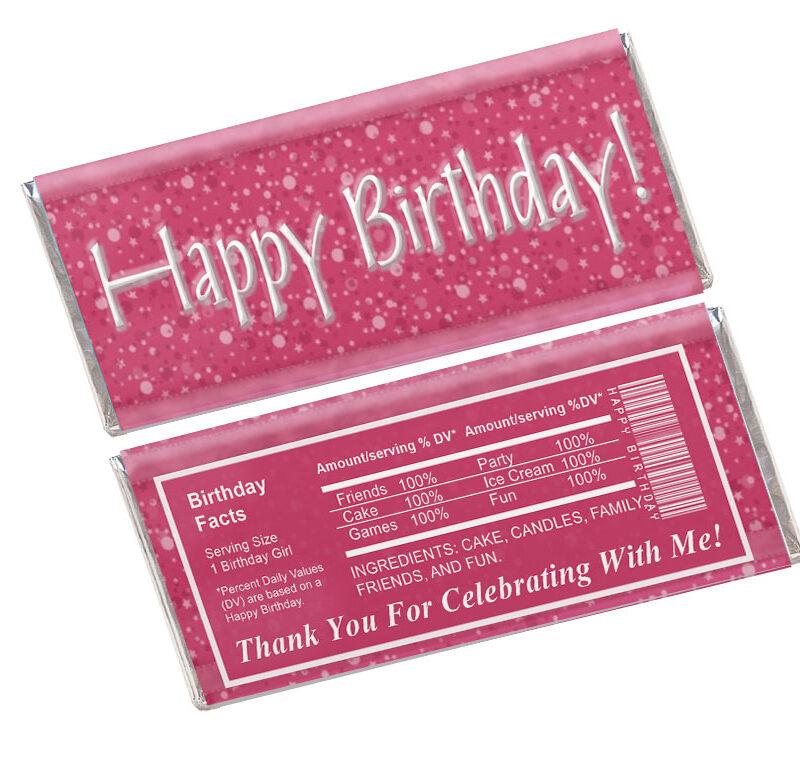 Happy Birthday Candy Wrapper