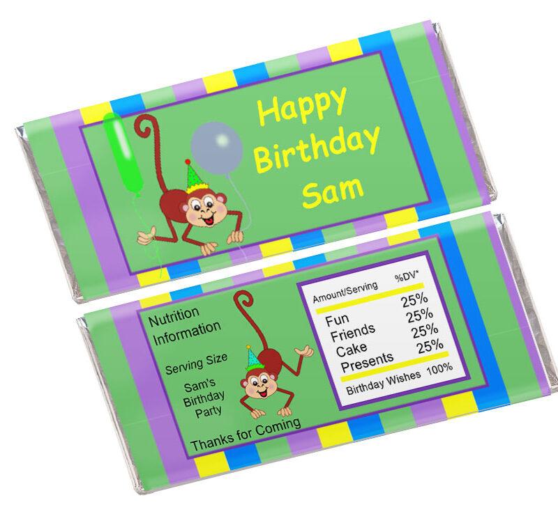 Kids Candy Bar Wrapper Template