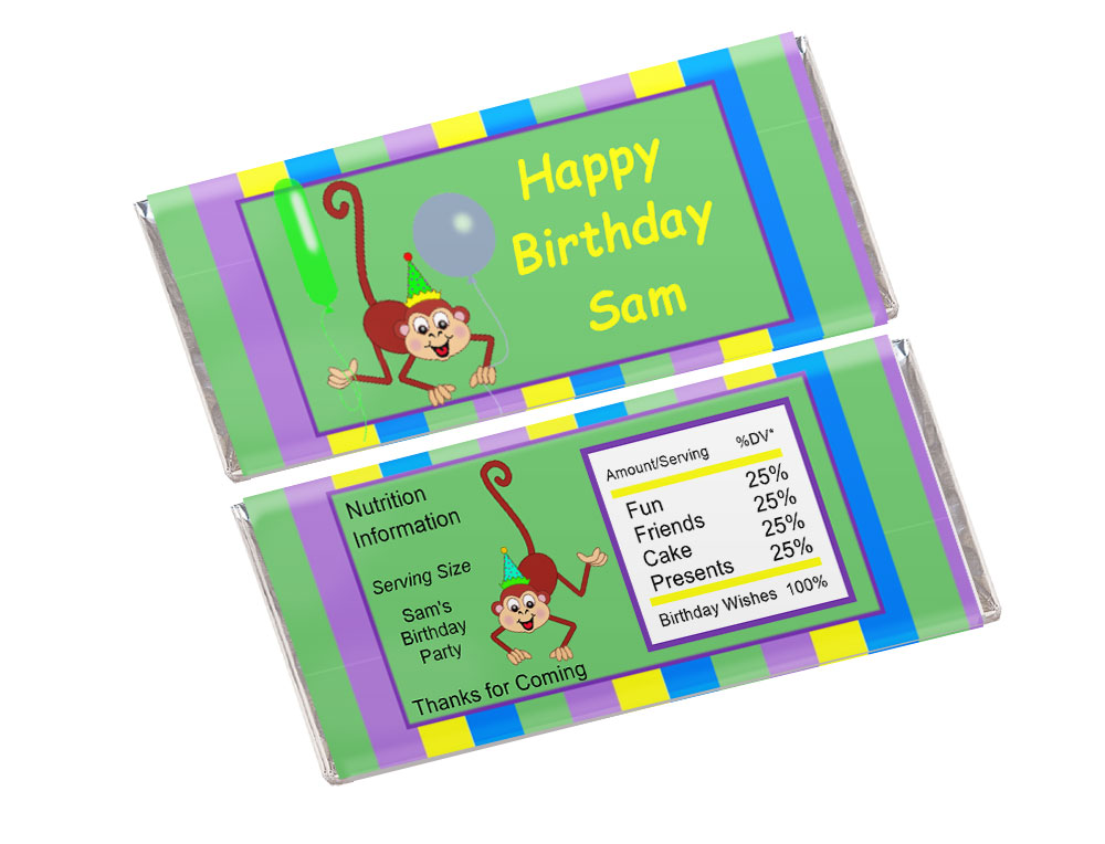 Kids Candy Bar Wrapper Template