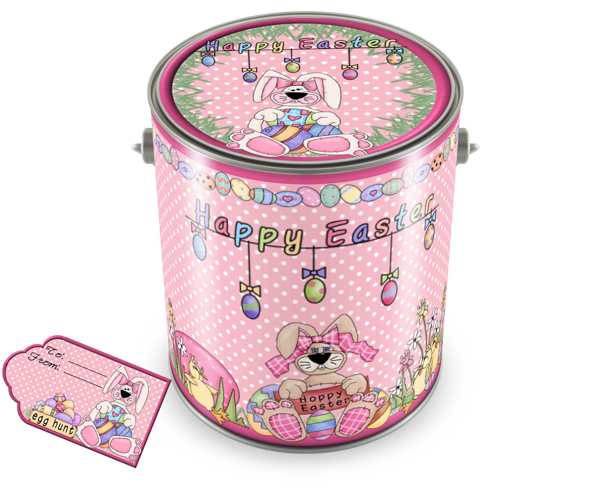 Custom Easter Basket Paint Can