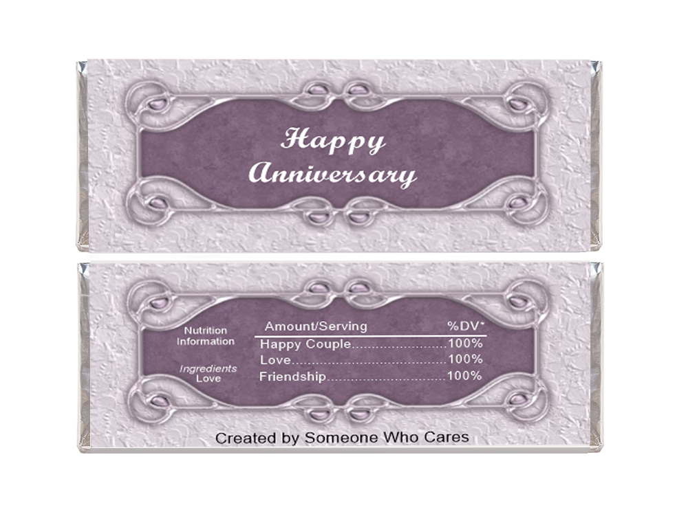 Happy Anniversary Candy Wrapper Template