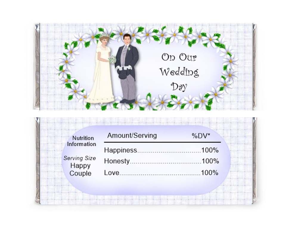 On our Wedding Day Candy Wrapper