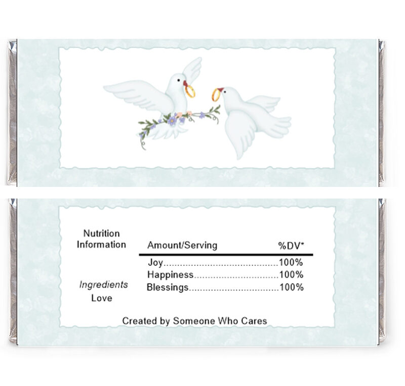 Wedding Doves Candy Wrapper